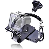Presen クリップマウント gopro クリップ ゴープロ マウント 伸縮性 落下防止ストラップ 変換アダプター付 360°回転式 Gopro ゴープロ アクセサリー Hero 7/6/5/4/3/2,MUSON,SONY,Xiaomi Yi,SJCAMなどのアクションカメラ アクションカム スポーツカメラに対応