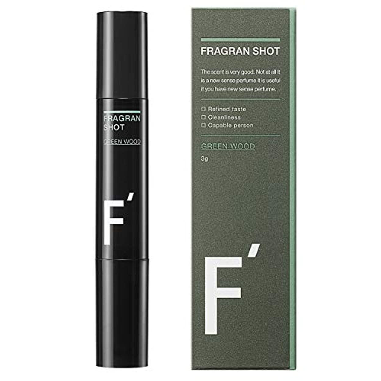 世界記録のギネスブッククランシー甲虫F'(エフダッシュ) フレグランショット グリーンウッドの香り 男性用練香水