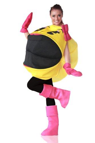 Ms. Pac-Man Costume ミズパックマン大人用コスチューム♪ハロウィン♪サイズ:One Size