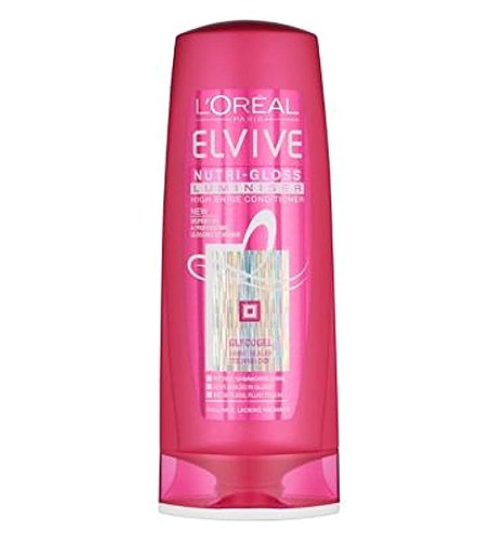 香り利得寄り添うL'Oreal Elvive Nutri-Gloss Luminiser Conditioner 400ml - ロレアルElviveニュートリグロスLuminiserコンディショナー400ミリリットル (L'Oreal...