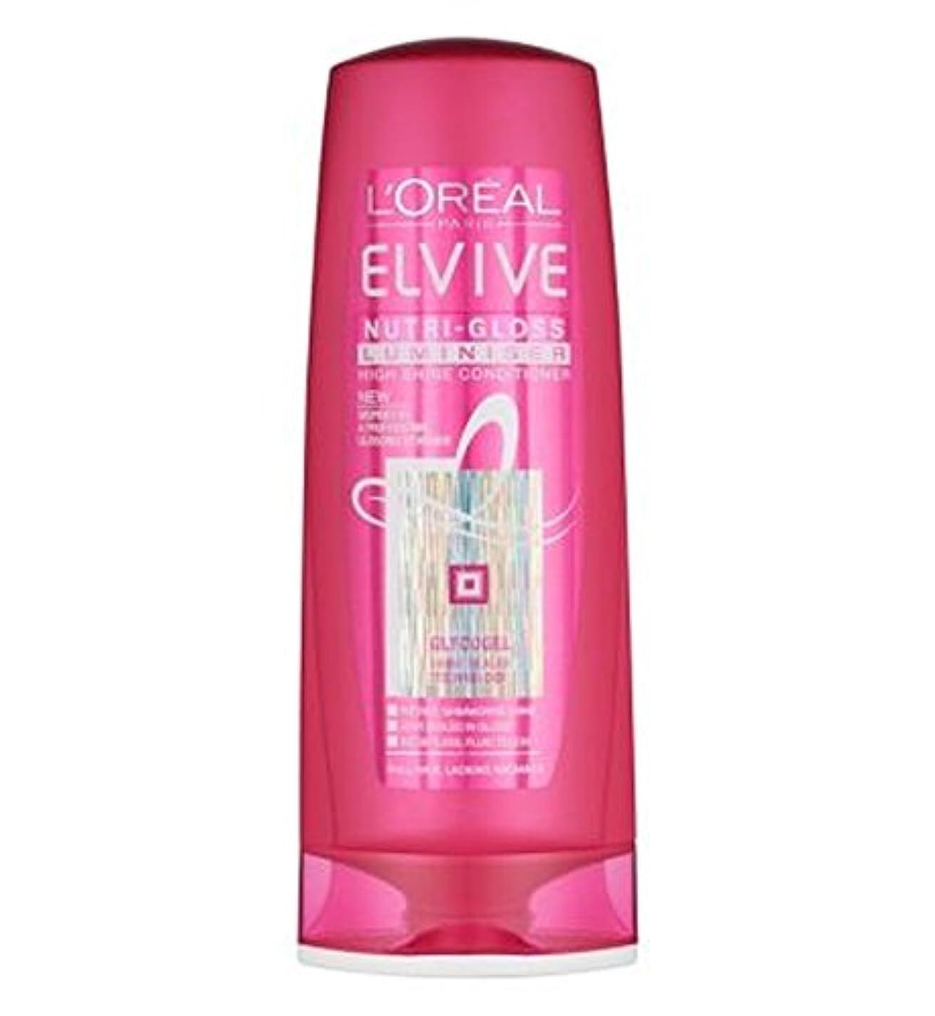 受信避ける麺ロレアルElviveニュートリグロスLuminiserコンディショナー400ミリリットル (L'Oreal) (x2) - L'Oreal Elvive Nutri-Gloss Luminiser Conditioner...