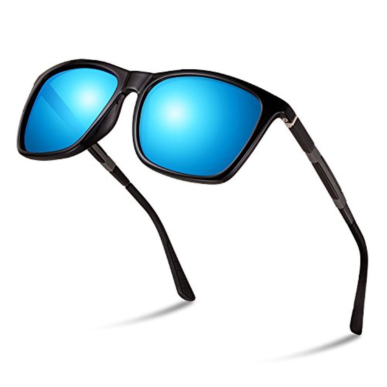偏光レンズ サングラス ウェリントン型 スポーツサングラス 超軽量 UV400紫外線カット ユニセックス ドライブ/野球/自転車/釣り/ランニング/ゴルフ/運転 偏光サングラス