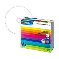 三菱ケミカル バーベイタム データ用CD-R 700MB ホワイトワイドプリンターブル 5mmスリムケース SR80SP10V1 1パック(10枚) (×5セット)