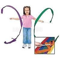 4 x Kid Rhythmic GymnasticsジムダンスTwirlingスティックリボンStreamer Stunt 4 M