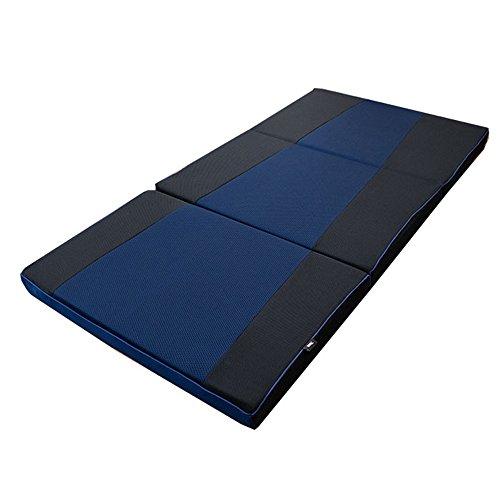 ライズTOKYO スリープマジック マットレス シングル 高反発 厚み8cm ウエーブタイプ ネイビー 三つ折り 体圧分散 敷き布団 シングル 約100×200×8 cm