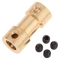 真ちゅう 高トルク ブラス フレキシブルシャフト カップリング カプラ コネクタ ジョイント 全9種 - 6mm-6mm