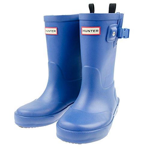 ハンター HUNTER 正規品 レインブーツ DAVISON KIDS KFT5001RMA キッズ 子供用 長靴 (UK9(約15cm), ブルー)