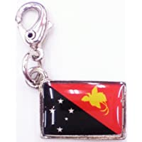NATIONALFLAG 国旗柄ファスナーホルダー パプアニューギニア独立国 07160-4