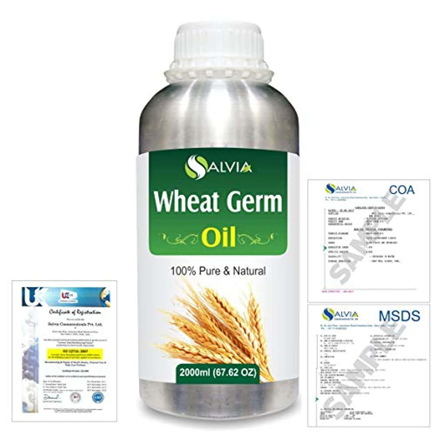 Wheat Germ (Triticum aestivum) 100% Natural Pure Essential Oil 2000ml/67 fl.oz.