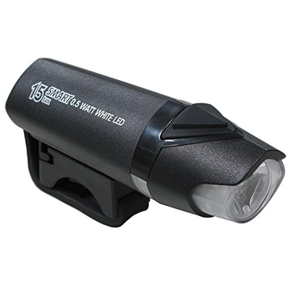 酸度夕食を食べる再開(SMART/スマート)(自転車用フロントライト)BL-185 1500 カンデラ LEDライト ブラック