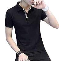 chenshiba-JP メンズスリムフィットカジュアルコントラストスポーツ半袖ポロTシャツ 8 XL