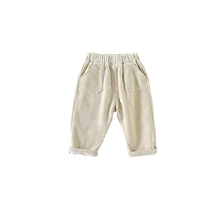 ALLAIBB ベビー パンツ コーデュロイ 女の子 男の子 キッズ ロングパンツ 暖かい 肌着 無地 かわいい size 80 (カーキ)