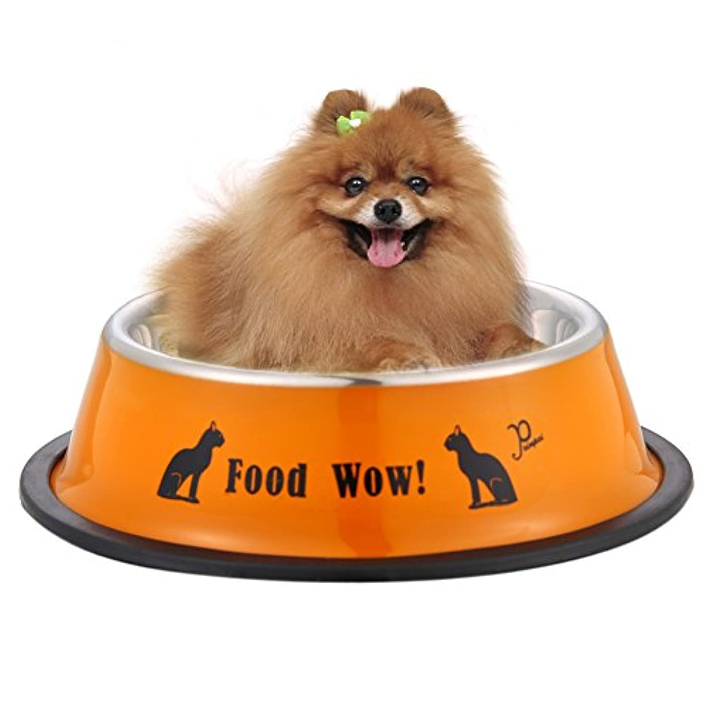 Demiawaking ペットボウル 犬/猫食器 早食い防止食器 給餌容器 給水容器 くり食べる ペット食事 ボウル 皿 食器 イエロー