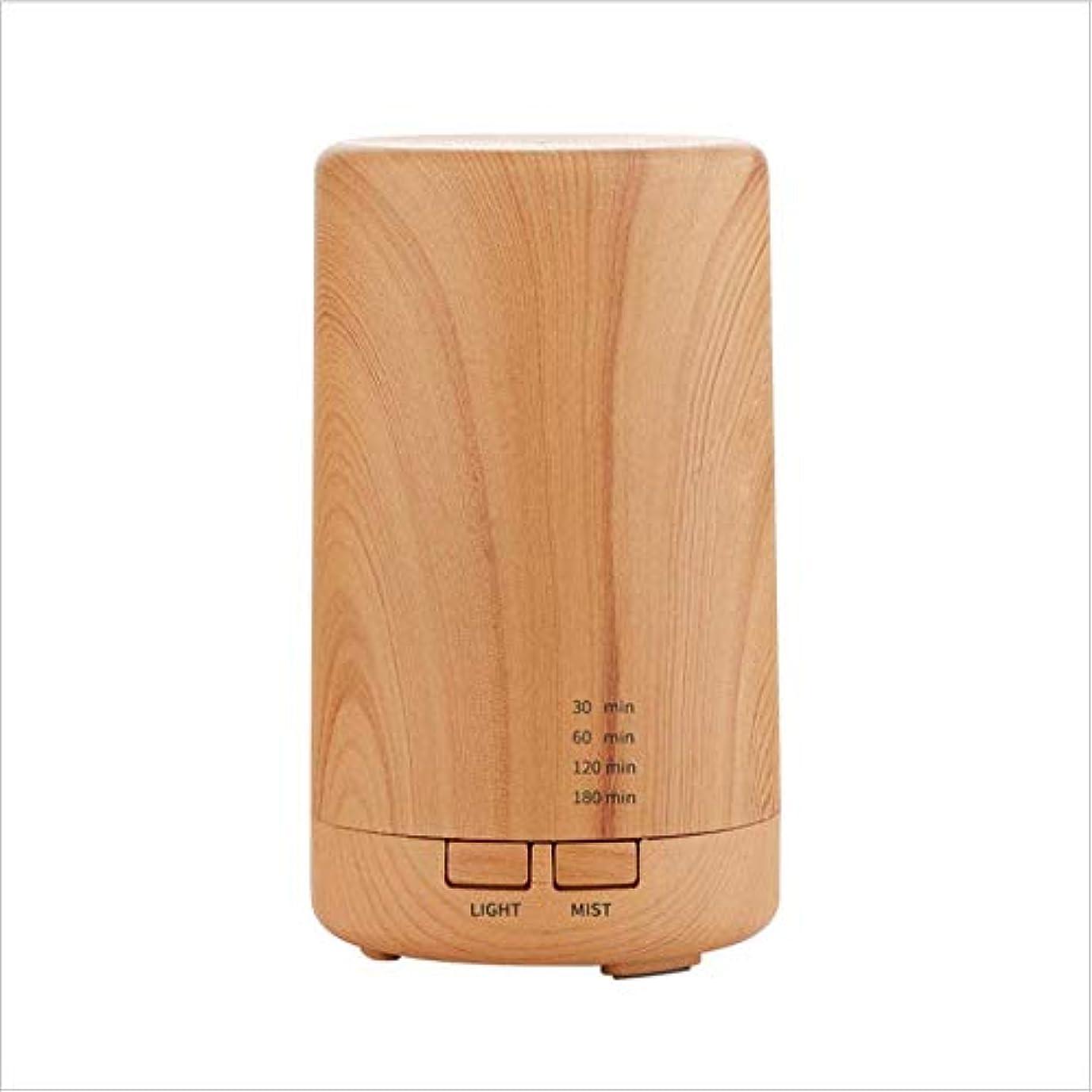 援助する配管転倒SOTCE アロマディフューザー加湿器超音波霧化技術ライトテラピー満足のいく解決策の美しい装飾 (Color : Wood)
