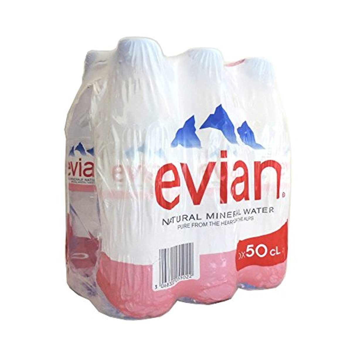 集計エイリアス第九Evian - Natural Mineral Water - 6 x 500ml (Case of 5)