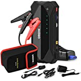 GREPRO Car Jump Starter 1500A 18000 mAh(Up to 8.0L Gas or 6.0L Diesel Engine) 12V Auto Battery Booster Portable Power Pack with Dual USB Quick Charge 3.0 Ports, Built-in LED Light and Compass
