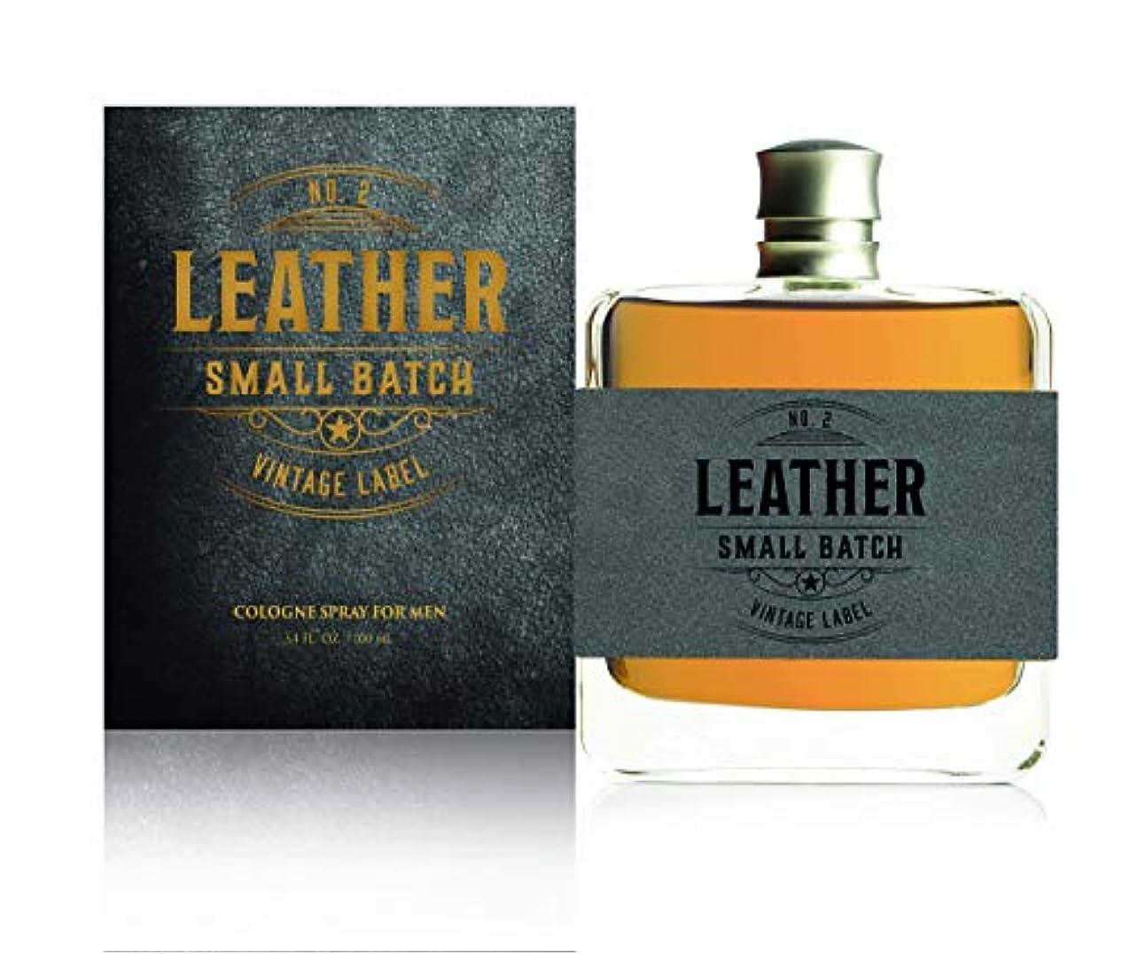 卒業わずかに不健全Tru Fragrance & Beauty 男性用レザー第2小ロットヴィンテージはラベル-本格フレグランス香水 - 大胆な男性の香り - ウッディノート - 3.4オズ