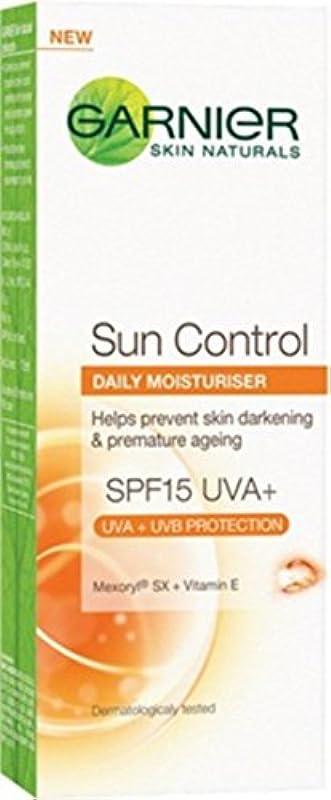 り残る瞬時にGarnier Skin Naturals Sun Control SPF 15 Daily Moisturiser, 50ml