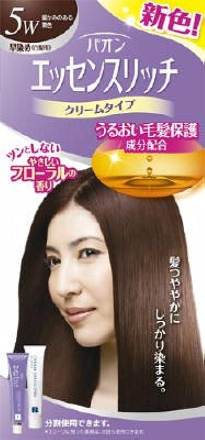 【シュワルツコフヘンケル】パオンエッセンスリッチクリーム 5W 暖かみのある栗色 ×5個セット