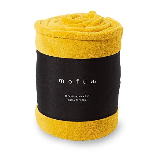 mofua(モフア)毛布 シングル マスタード あったか ボリュームタイプ 1年間品質保証 静電気防止加工 プレミアムマイクロファイバー 320301H9