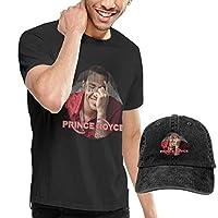 メンズTシャツ Prince Royce - Hip Hop カジュアル 半袖 Rock Tee Shirt +カウボーイハット Baseball Hat