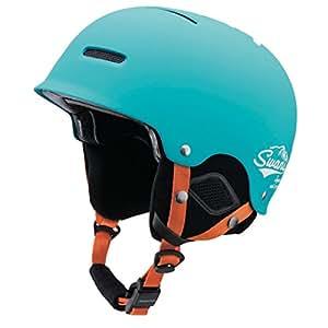 SWANS(スワンズ) ヘルメット スキー スノーボード フリーライドモデル HSF-200S TQB ターコイズブルー S(54〜56cm)