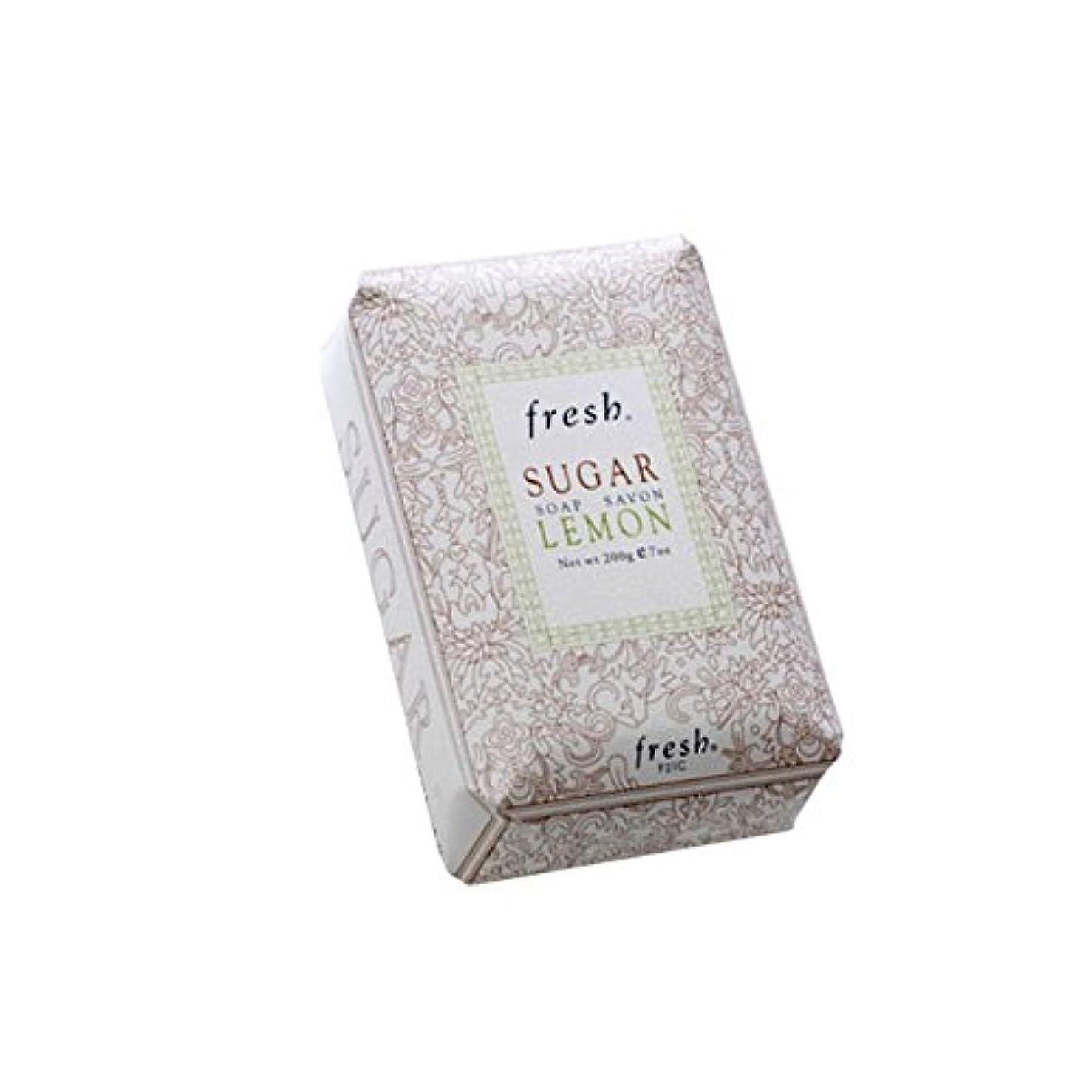 君主ガソリン従者Freshフレッシュシュガーレモン石鹸 Sugar Lemon Soap, 200g/7oz [海外直送品] [並行輸入品]