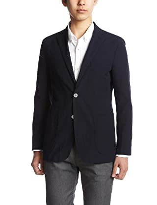 Seersucker Jacket 3122-139-0256: Navy