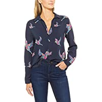 French Connection Women's Botanical Bird Core Shirt, Multicolored (Nocturnal Multi)