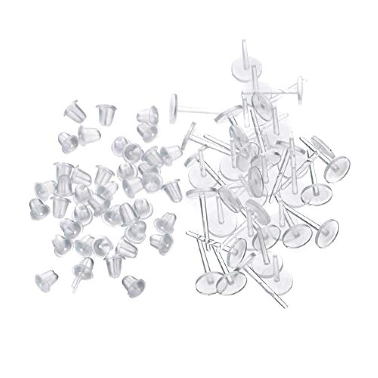 略語大型トラック省略シークレットピアス 樹脂透明ピアス 金属アレルギーフリー ピアスホール維持に最適 (20セット)