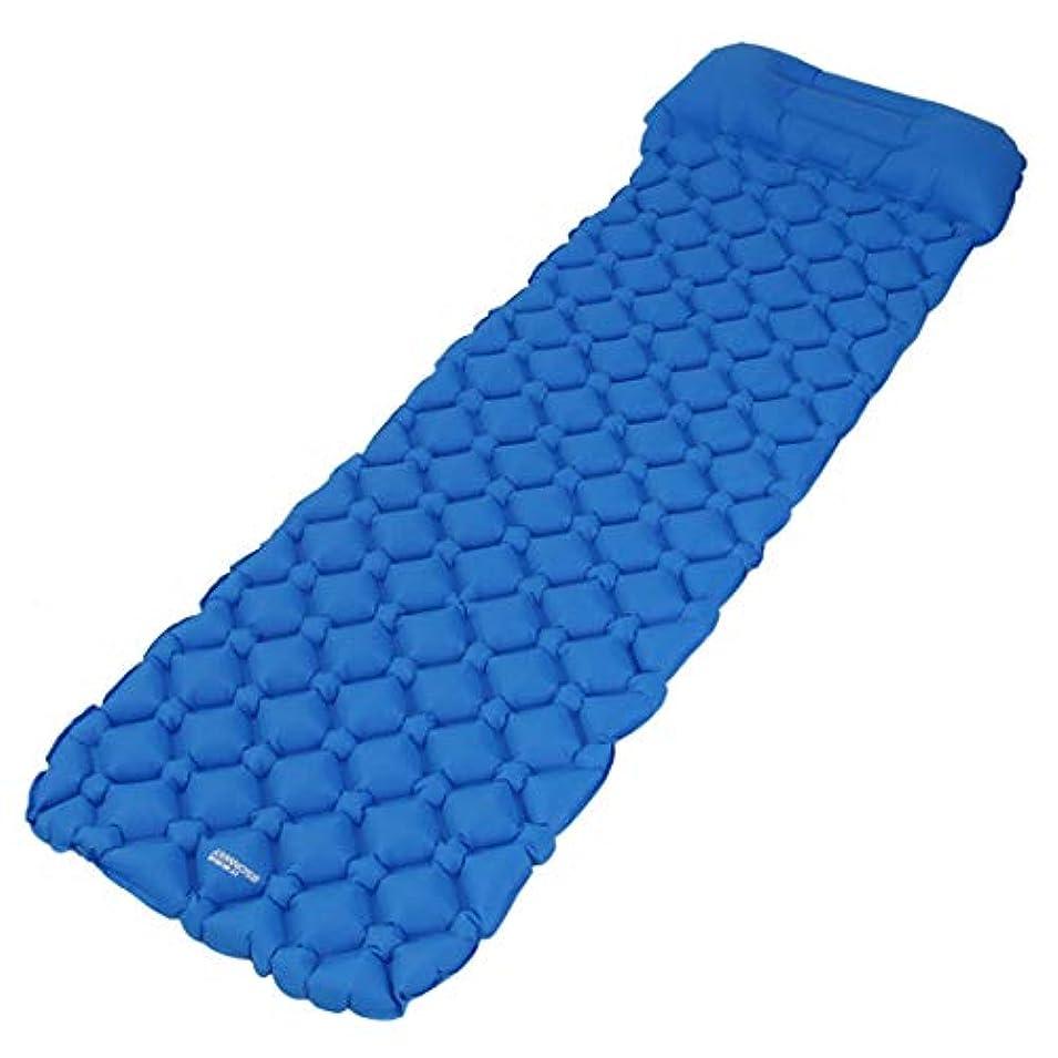レンドエンジニアリング準備したKingsleyW 軽量 携帯型 ポータブル 充填布団 旅行 車 厚い 防潮防湿 空気 クッション キャンプ (色 : 青, Edition : With pillow)