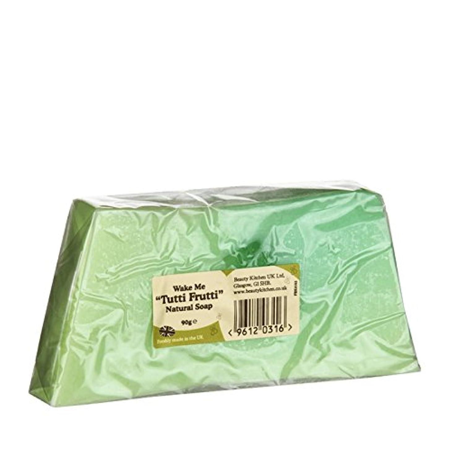 パッチアンティーク手書きBeauty Kitchen Wake Me Tutti Frutti Natural Soap 90g (Pack of 2) - 美しさのキッチンは私トゥッティフルッティの天然石鹸90グラムウェイク (x2) [並行輸入品]
