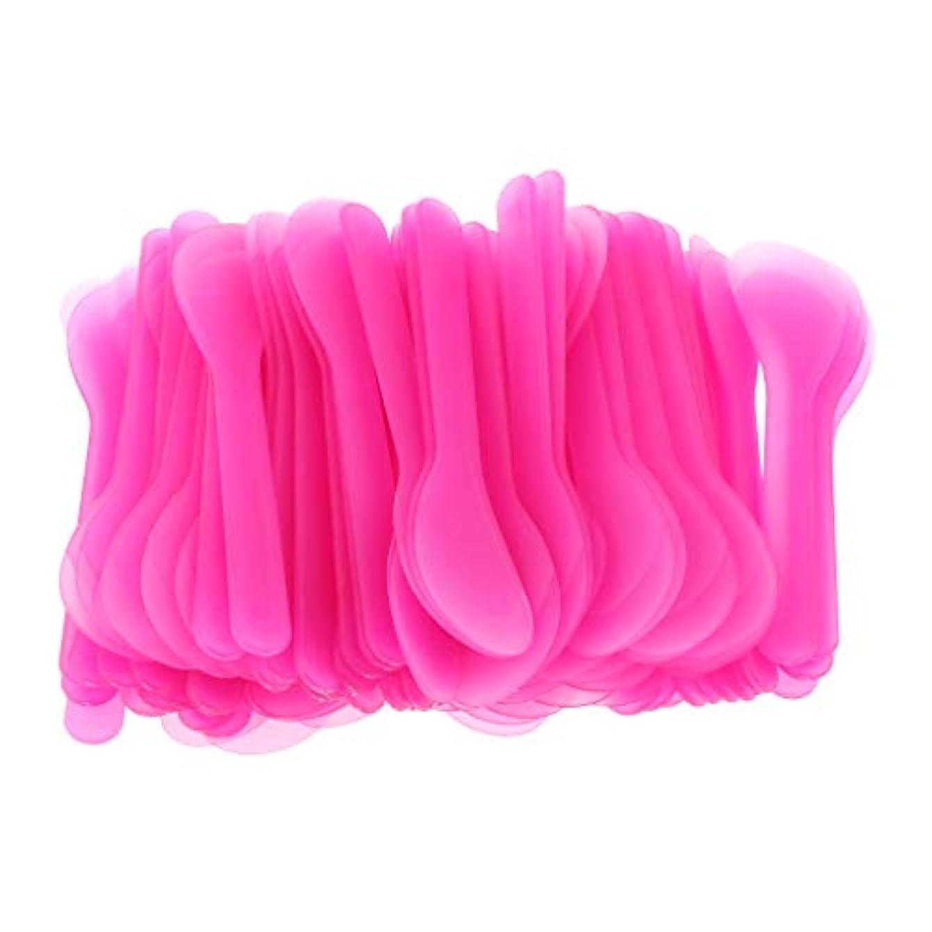 真向こう真向こう希望に満ちた使い捨て化粧スプーン 化粧スパチュラ 化粧品DIY サンプリング用 ボディクリーム 旅行 便利