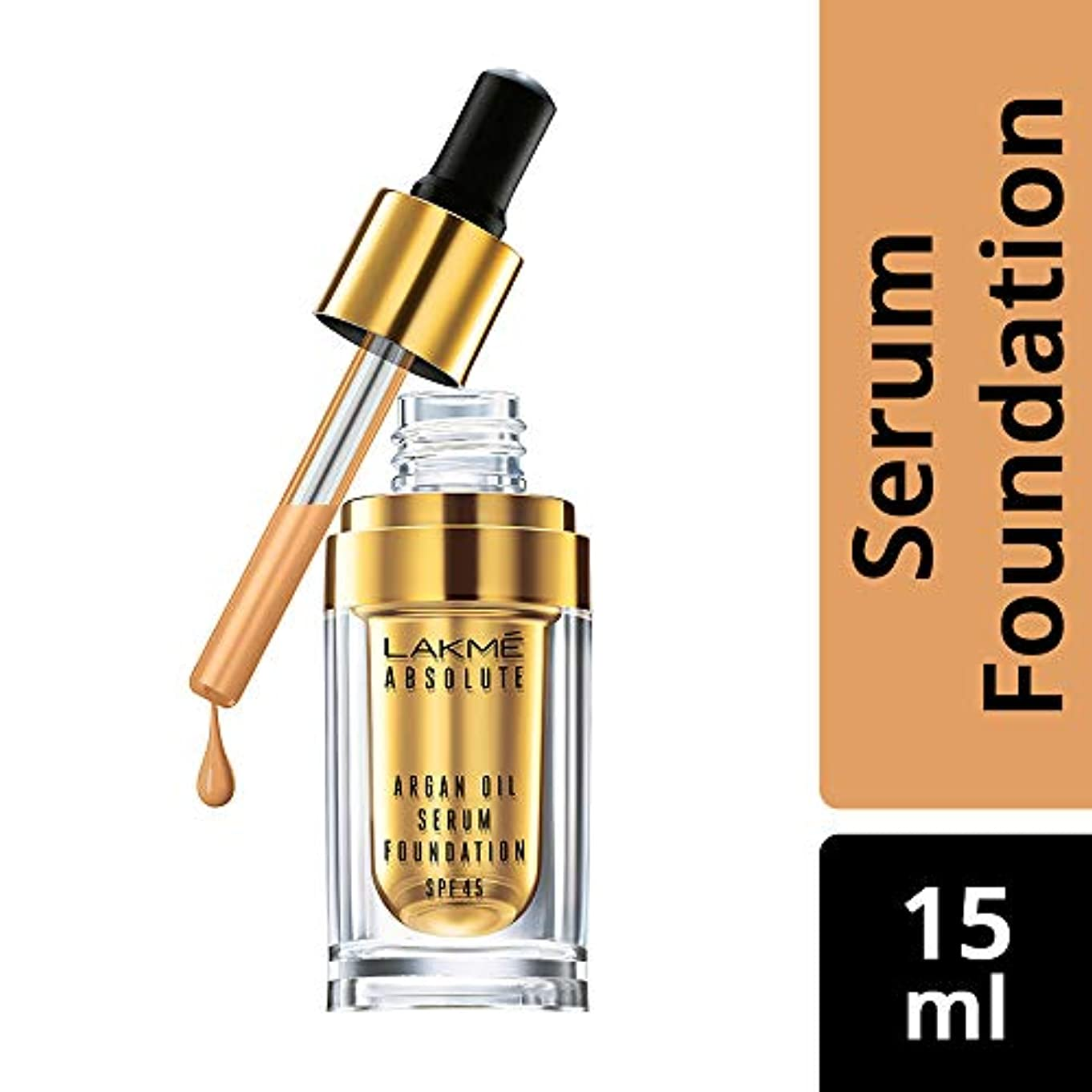 なめらかな一族コールドLakme Absolute Argan Oil Serum Foundation with SPF 45, Ivory Cream, 15ml