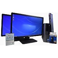 デスクトップパソコン 【OFFICE搭載】 【23インチ FullHD (1920×1080) 液晶モニター 同型モデル 2台セット】 DELL OptiPlex 980 スモールフォームファクタ(SFF) Core i7 870 /8GB/500GB/DVDROM/ATI RADEON HD 3450/Windows 7 / 新品USBマウス・キーボード付