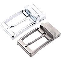 D DOLITY 2x Reversible Alloy Antique Belt Buckle Replacement Pin Buckle Men Women