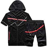 Risnow Men's Hoodie Top Bottoms Joggers Gym Draw Code Tracksuit