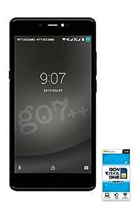 gooのスマホ g07++(グーマルナナプラプラ) 【OCNモバイルONE SIMカード付】 (データSIM, マットブラック)