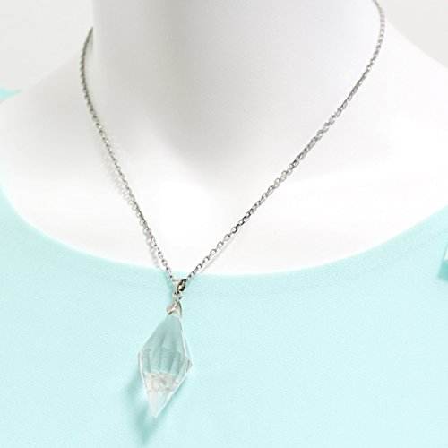 石輝  天然石 水晶 クリスタル ポイント ペンダントネックレス ペンデュラム[b439]