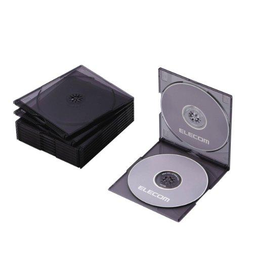 エレコム Blu-ray/DVD/CDケース スリム/PS/2枚収納 CC...
