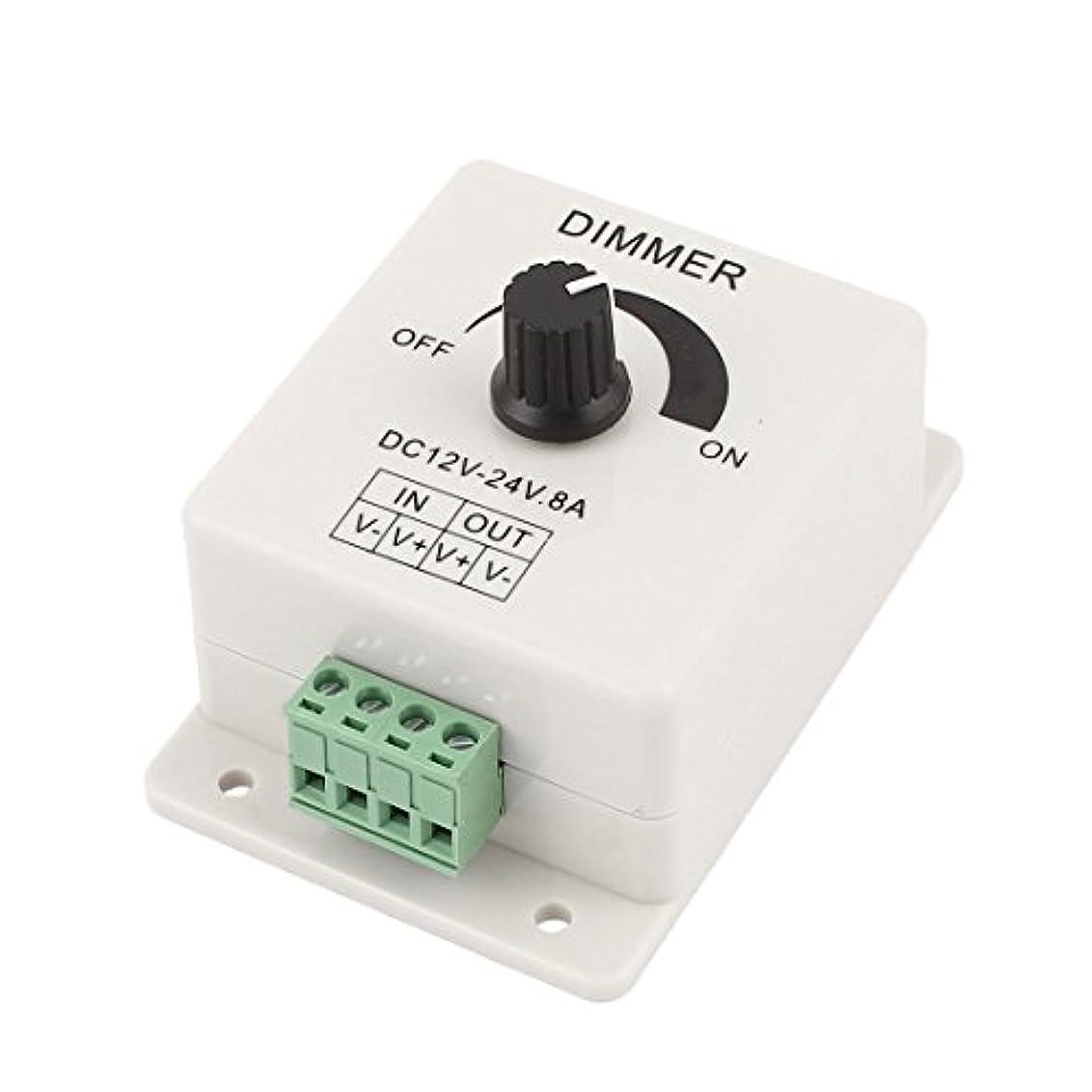 キャベツ運命的な同種のuxcell LED ライトディマー DC12V-24V 8A 89 x 60 x 50mm 調光器 プラスチック