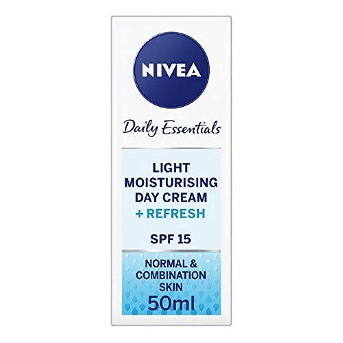子音ご覧ください線形[Nivea ] ニベアフェイスクリームライトモイスチャライザー、50ミリリットル - NIVEA Face Cream Light Moisturiser, 50ml [並行輸入品]