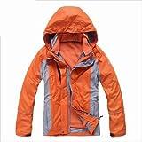 ノースフェイス マウンテンジャケット Eamkevc 登山用 インナー付レディースジャケット オレンジ a1504