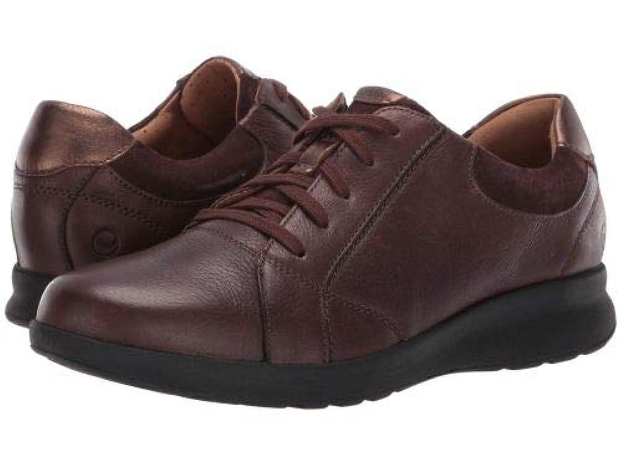 学校教育天皇製品Clarks(クラークス) レディース 女性用 シューズ 靴 スニーカー 運動靴 Un Adorn Lace - Dark Brown Leather/Suede Combination [並行輸入品]