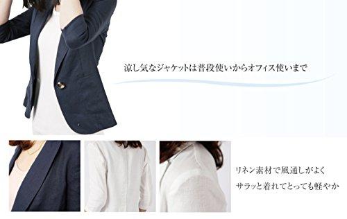 Heaven Days(ヘブンデイズ) リネン 麻 テーラード ジャケット 七分袖 清涼感 軽い レディース 16080001
