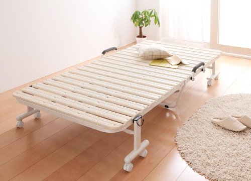 折りたたみ式抗菌樹脂すのこベッド【Neo Clean】ネオ・クリーン(色:アイボリー) tu-26190