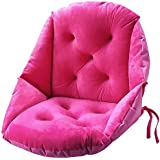 Bobor Super Soft Crystal Plush Comfortable Cushion Support Waist Backrest Soft Cushion Suitable for Student Office Multi-Functional Cushion (Rose red, 19 x 20inches)