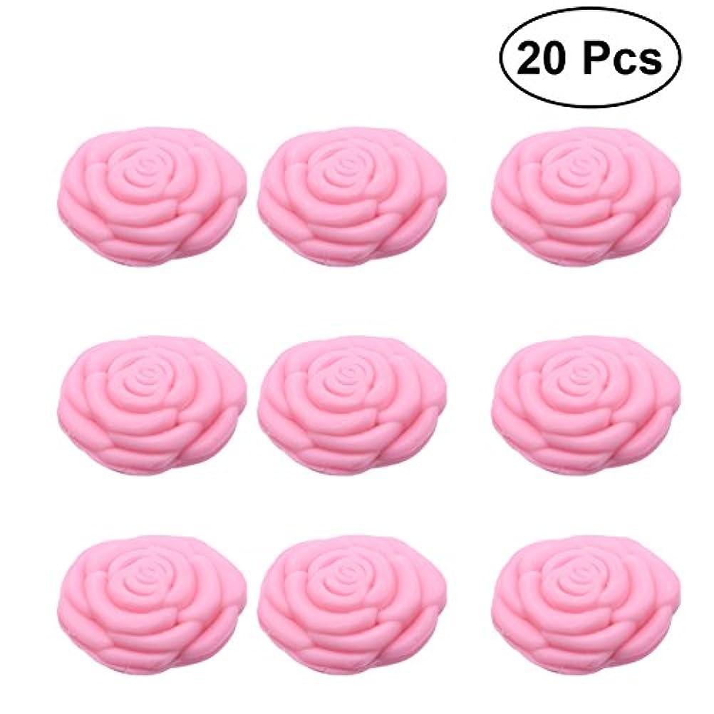 役に立つウォーターフロントピザAmosfun 手作り石鹸オイルローズフラワーソープアロマエッセンシャルオイルギフト記念日誕生日結婚式バレンタインデー(ピンク)20ピース