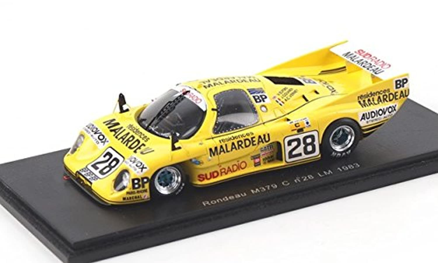 1983 Rondeau m379 C n.28 Le Mans V Elfordモデルカーin 1 : 43スケールby Spark