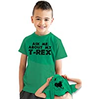 Youth Ask Me About My Trex T Shirt Funny Cool Dinosaur Flip Tee For Kids